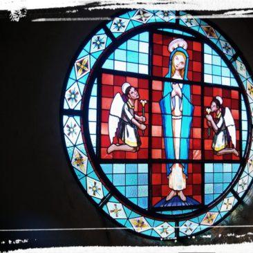 Rosetón da igrexa do Vilar (Ribas de Miño)