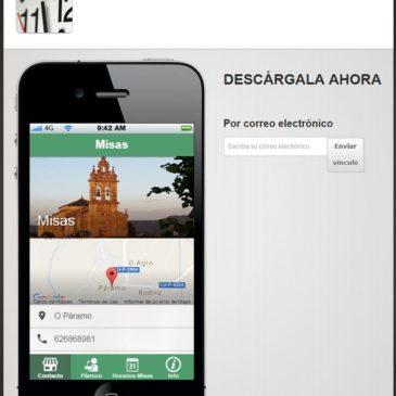 Aplicación para móviles que permite consultar horarios de misas