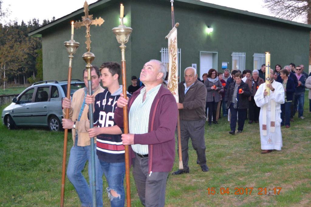 Inicio da procesión da pascua